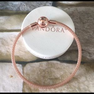 Pandora Rose somerset charm bracelet w box